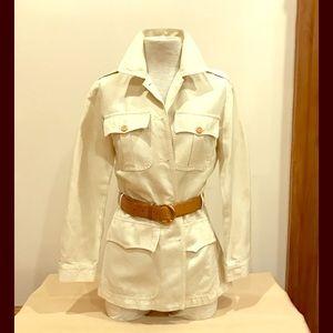 EUC Bensimon off white saharian jacket, size 38.